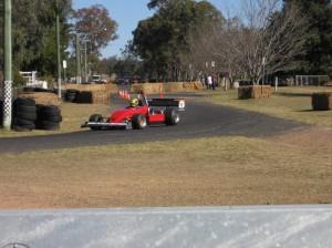 Darren on Track at Leyburn Sprints 14-8-09