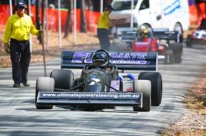 Rotary Hillclimb Racing's Warwick & Darren off the start Line at Noosa 09