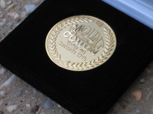 The Medallion received from the MG Car Club for sub 40 Sec. run at Mt Cotton.
