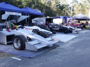 Some Racing Cars in the pits at the QHC 2010 - Mt Cotton.