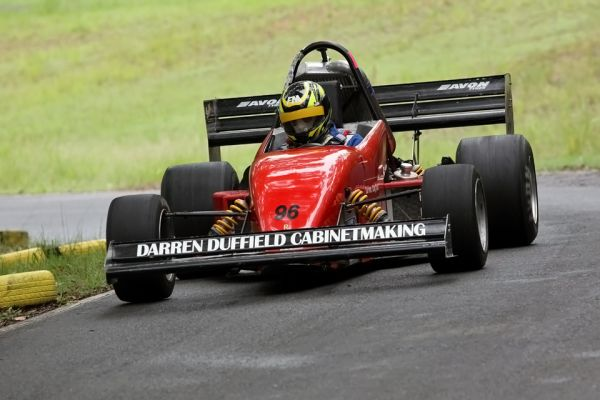 Darren Duffield in his RPV01 Race Car at Mt Cotton Hillclimb.