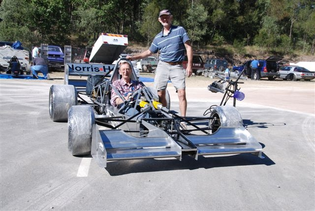 Rod Johns & Bill Norris at Mt Cotton Hillclimb
