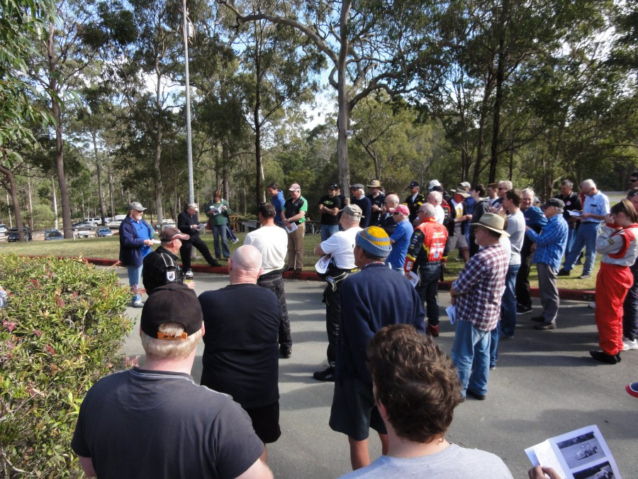 Drivers briefing Saturday morning Mt Cotton Round 3 2012