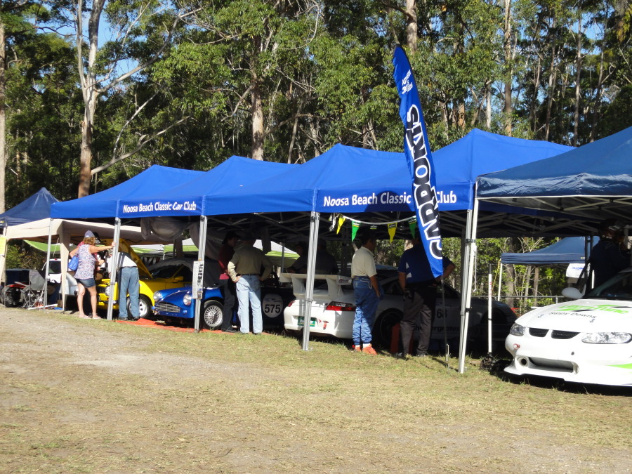1 Noosa Hillclimb 8th & 9th Nov 2014 Pit area Photo 1 - rotaryhillclimbracing.com