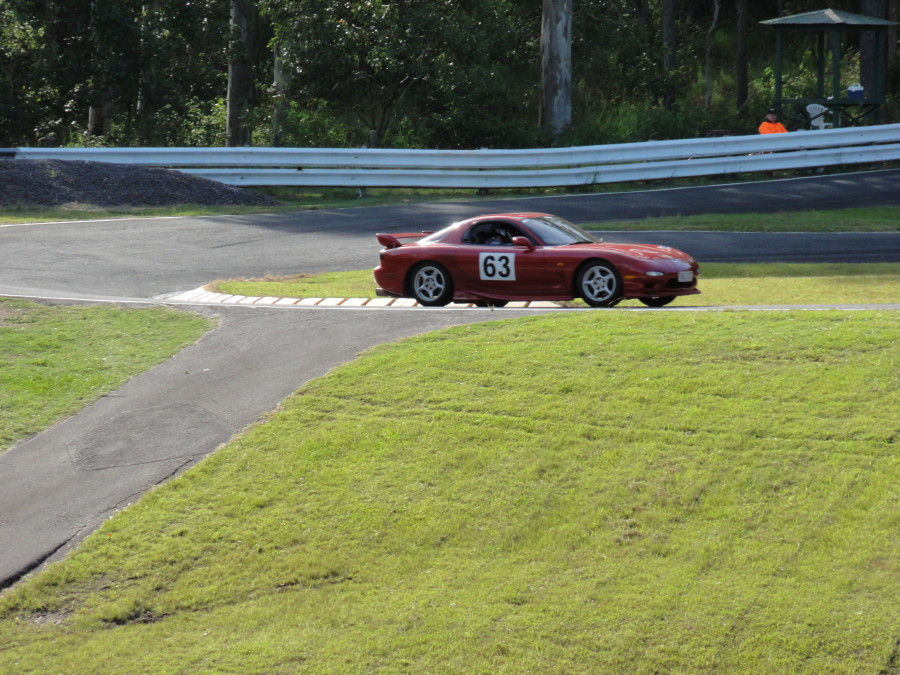 Cameron Hurman  Rx7 on the track Mt Cotton