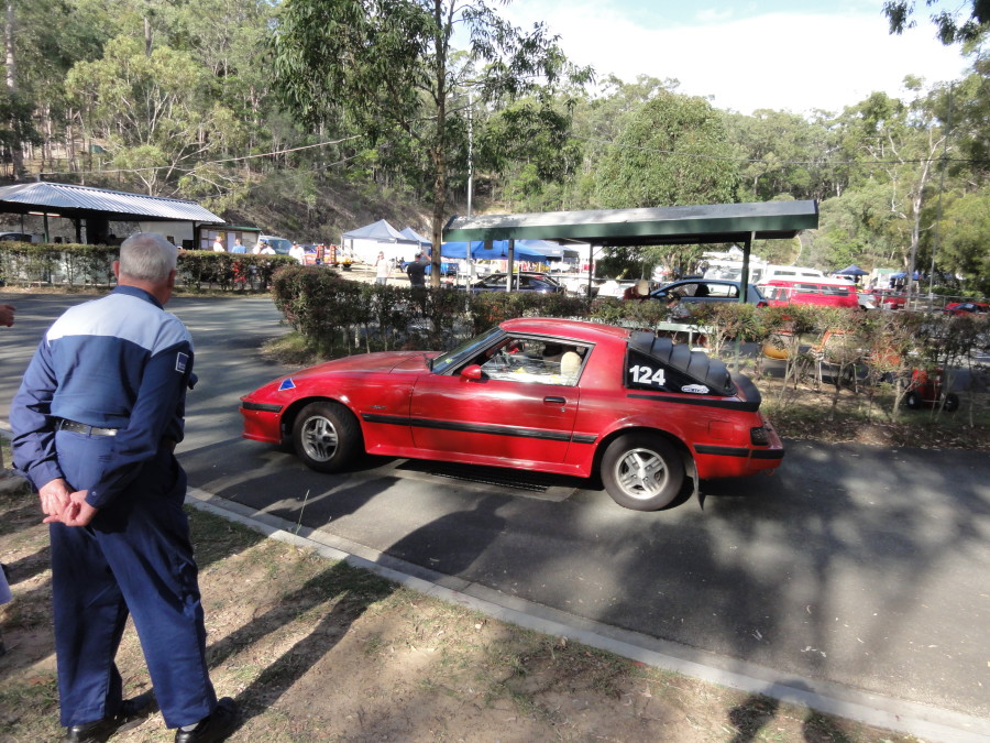David Jackson's Rx7 in the pits Mt Cotton